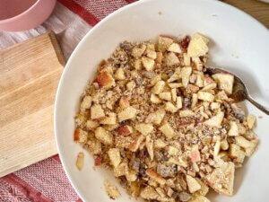 Rezept Porridge Apfelschnecken Apfel-Nuss-Porridge-Mischung
