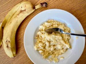 Rezept Lower Carb Granola Muffins Bananenbrei