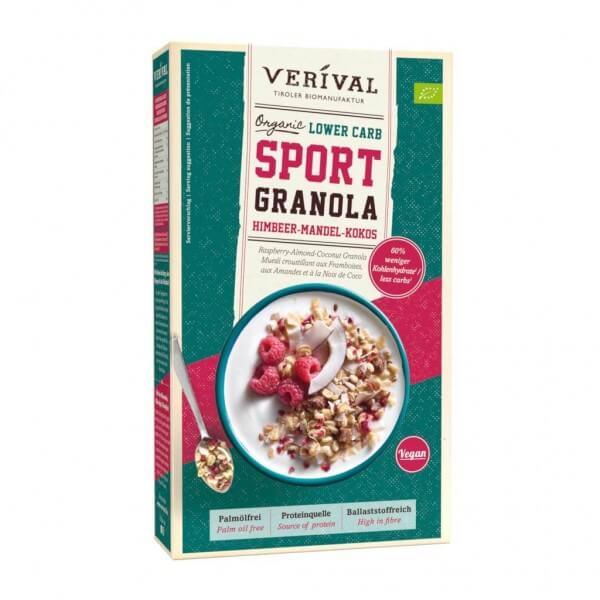 Lower Carb Sport Granola Raspberry-Almond-Coconut