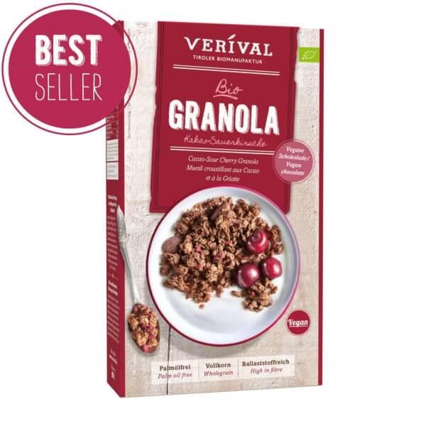 Kakao-Sauerkirsche Granola