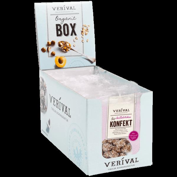 Verival Organic-Box Dattel-Kokos Konfekt 12x 40g